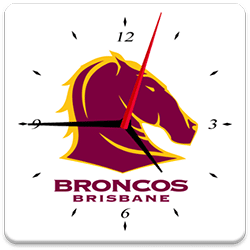 Brisbane Broncos Analog Clock
