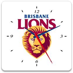 Brisbane Lions Analog Clock