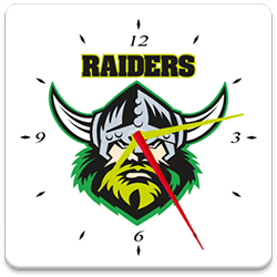 Canberra Raiders Analog Clock