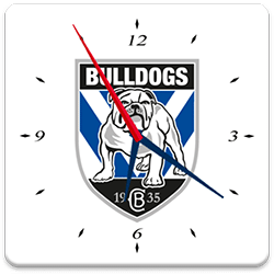 Canterbury Bulldogs Analog Clock