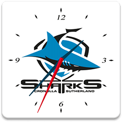 Cronulla Shark Analog Clock