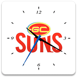 Gold Coast SUNS Analog Clock