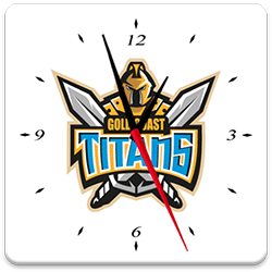 Gold Coast Titans Analog Clock