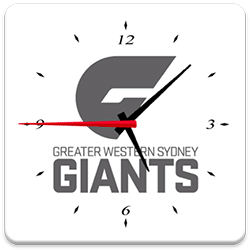 GWS Giants Analog Clock
