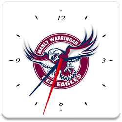 Manly Sea Eagles Analog Clock