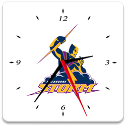 Melbourne Storm Analog Clock