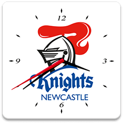 Newcastle Knights Analog Clock