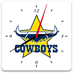 North Queensland Cowboys Analog Clock