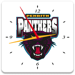Penrith Panthers Analog Clock