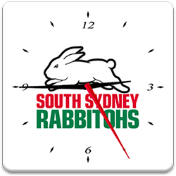 South Sydney Rabbitohs Analog Clock