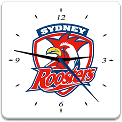 Sydney Roosters Analog Clock