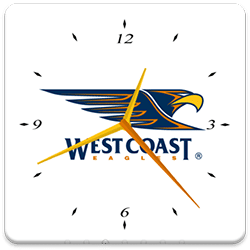 West Coast Eagles Analog Clock