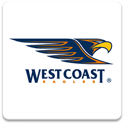 West Coat Eagles Spinning Logo