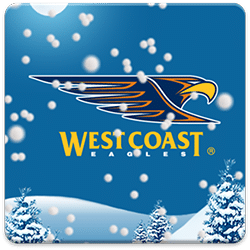 West Cost Eagles Snow Globe