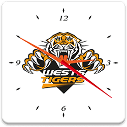 Wests Tigers Analog Clock