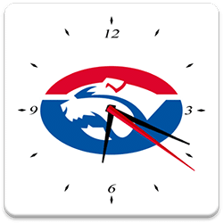 Western Bulldogs Analog Clock